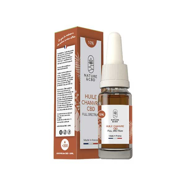 Stimulants sexuels - Huile de chanvre CBD 10% sublinguale 10 ml