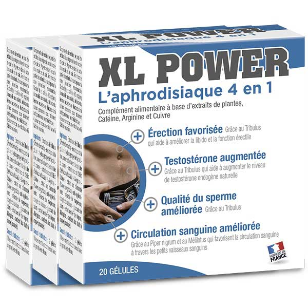 Stimulants sexuels - Pack XL Power ( 3 X 20 gélules)